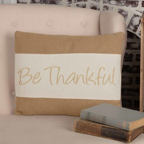 Be Thankful Pillow 14x18
