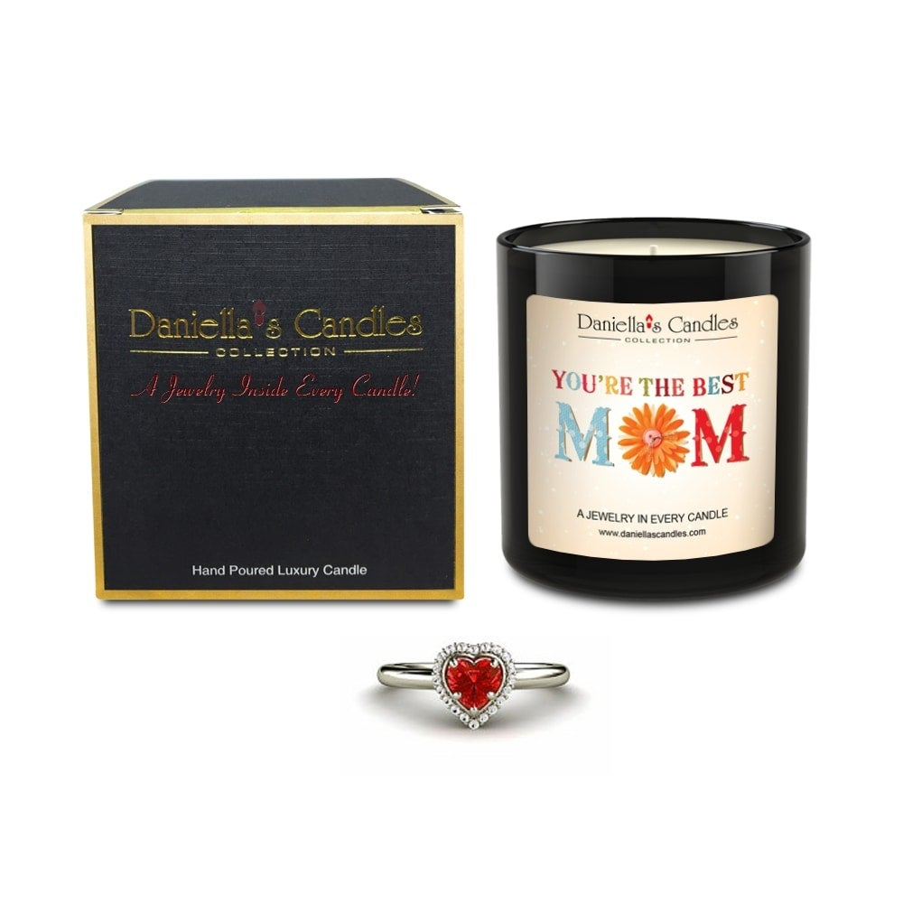 Worlds Best Mom Jewelry Candle, Lavender, Earrings