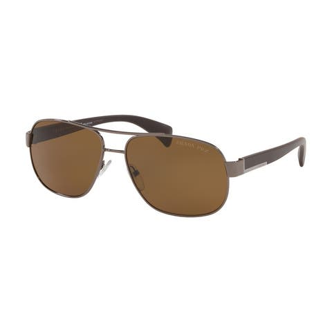 Prada PR 52PS 5AV5Y1 61 Gunmetal Man Pilot Sunglasses
