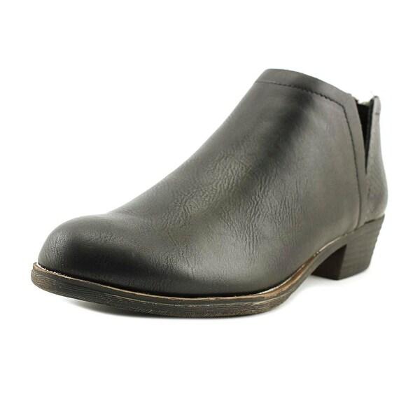 Sugar Tessa Women Round Toe Leather Black Ankle Boot