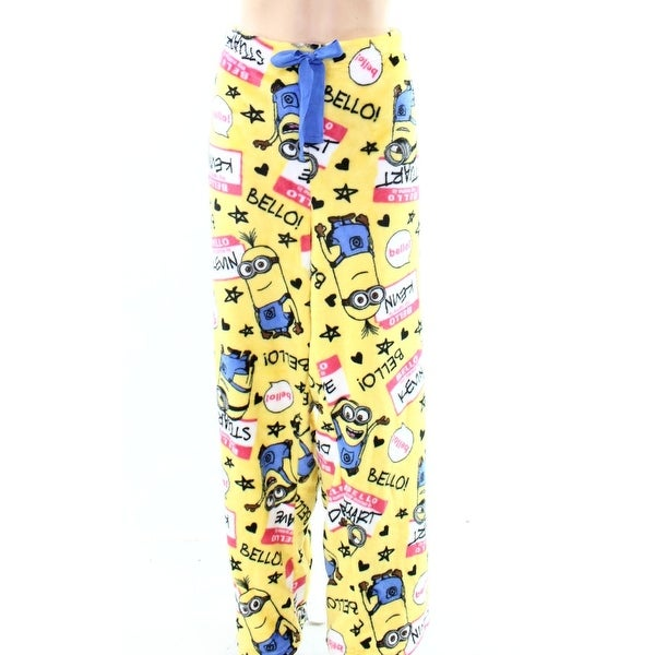 fc6f19c7a13c14 Shop Despicable Me Yellow Women XL Minions Graphic-Print Fleece Sleep Pants  457 - Free Shipping On Orders Over  45 - Overstock - 21247126