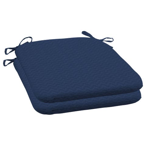 Arden Selections DriWeave Sapphire Leala Outdoor Seat Pad, Set of 2 - 18 in L x 19 in W x 2.5 in H