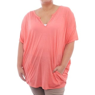 Skin Drape Caban Short Sleeve V-Neck Tunic Women Regular Tunic Top