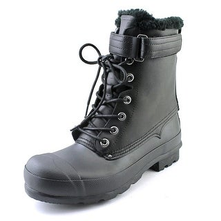Hunter Org Shearling Lace Up Round Toe Synthetic Rain Boot
