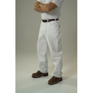 "Keystone 1200WH3834 Double Knee Painter Pants, 38"" x 34"", White"