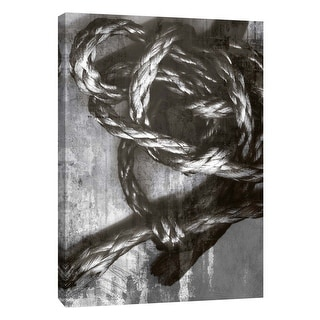 """PTM Images 9-105847  PTM Canvas Collection 10"""" x 8"""" - """"Knotted Rope Study 4"""" Giclee Abstract Art Print on Canvas"""