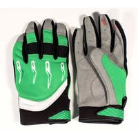 Race-Driven ATV MX Off Road Silicone Fingertip Riding Gloves - Green