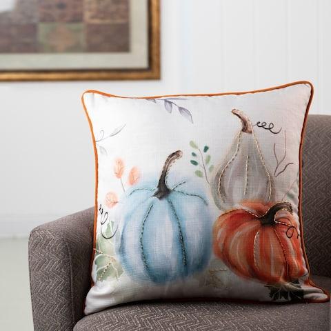 Glitzhome Faux Burlap Pumpkin Pillow Cover