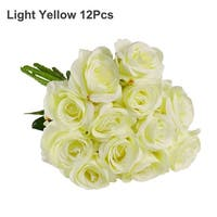 Artificial Silk Rose Flower Bouquet Wedding Party Home Decor
