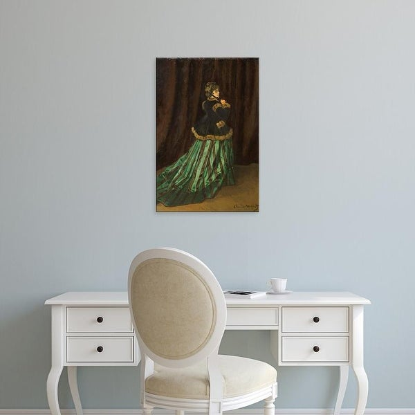Easy Art Prints Claude Monet's 'Camille, The Green Dress' Premium Canvas Art