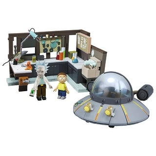 Rick and Morty Spaceship & Garage 294-Piece Construction Set w/ Rick & Morty - Multi