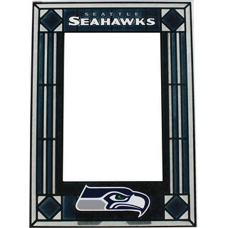 Seattle Seahawks Art Glass Vertical Picture Frame