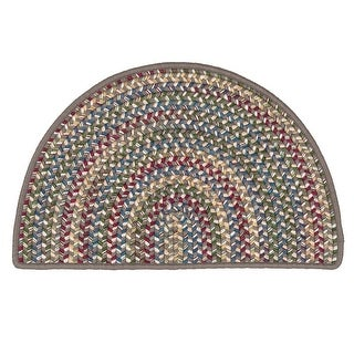 Link to Colonial Mills Worley Slice Rustic Braided Hearth Rug Similar Items in Rugs