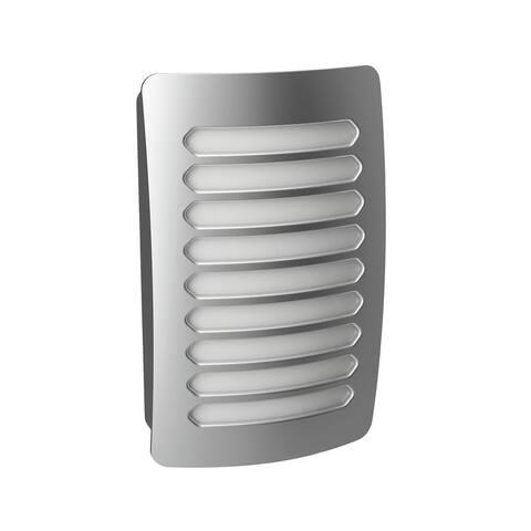 AmerTac NL-DPLV-N Westek Louver Decoplug LED Night Light, Satin Nickel