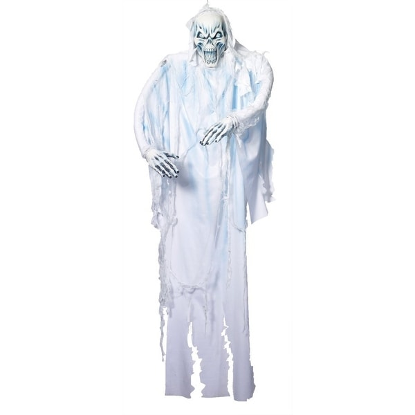 6' White Ghost Hanging Halloween Prop