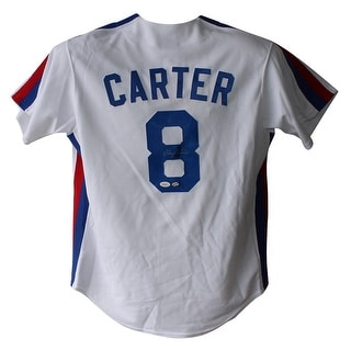 Gary Carter Autographed Montreal Expos Majestic White L Jersey JSA