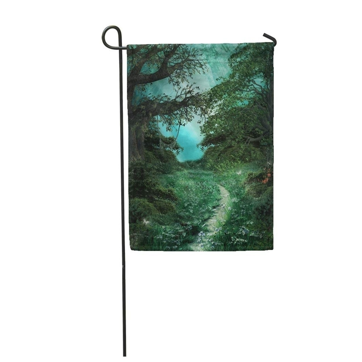 Blue Enchanted Pathway In The Green Magic Forest Mystic Fairy Garden Flag Decorative Flag House Banner 12x18 Inch Overstock 31338172