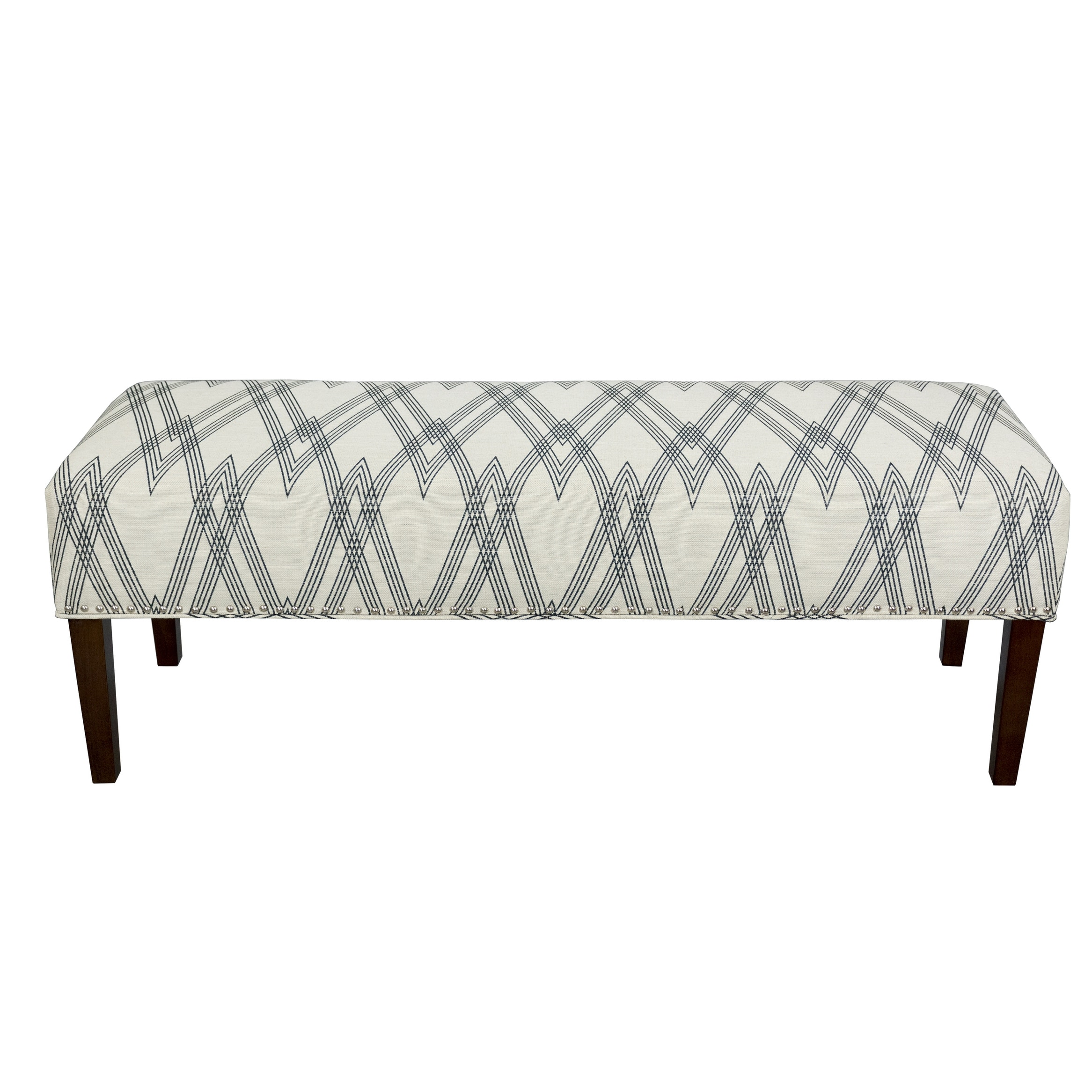 Picture of: Shop Black Friday Deals On Farmhouse Black White Upholstered Living Room Bench On Sale Overstock 31516722