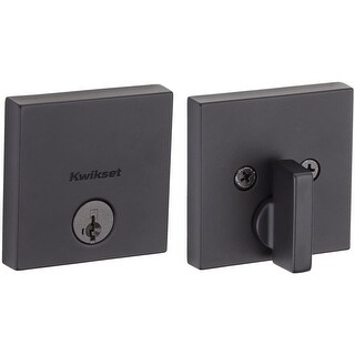 Kwikset 258SQT-S Downtown Low Profile Single Cylinder Deadbolt with SmartKey Technology
