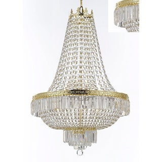 French Empire Crystal Gold Chandelier Lighting