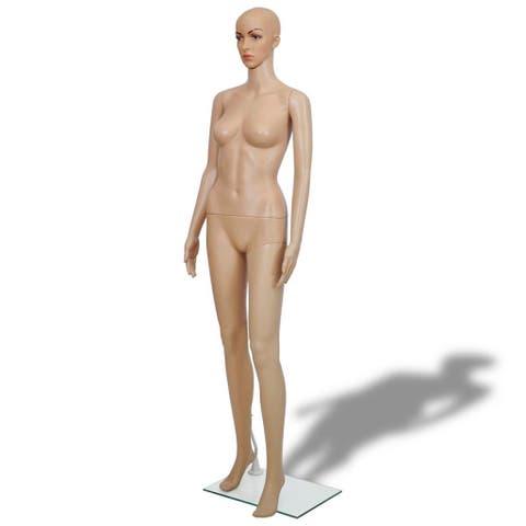 vidaXL Female Mannequin Body Realistic Display Head Turns Dress Form Model