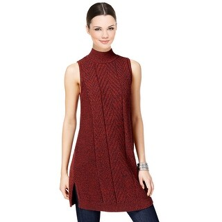 Style & Co Sleeveless Mock Neck Sweater Tunic Top