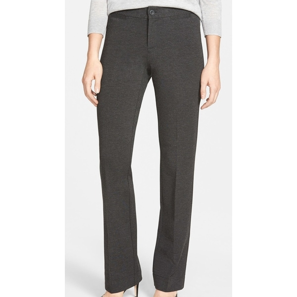 37749ef9ab10a Shop NYDJ Gray Women s Size 10 Michelle Stretch Ponte Trousers Pants - Free  Shipping Today - Overstock - 21951757