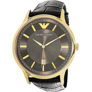 Emporio Armani Men's Renato AR11049 Gold Leather Swiss Parts Quartz Dress Watch