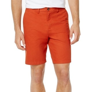 Tommy Hilfiger NEW Burnt Orange Mens Size 36 Khakis Flat-Front Shorts