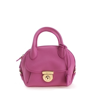 Salvatore Ferragamo Small Ginny Leather Tote Handbag - Pink - S