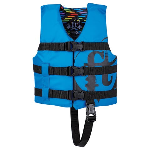 Full throttle child nylon life jacket blue