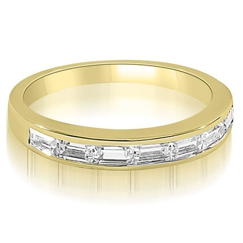 0.70 cttw. 14K Yellow Gold 7-Stone Channel Set Baguette Diamond Wedding Band