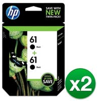 HP 61 Black Original Ink Cartridges-2 Cartridges (CZ073FN)(2-Pack)