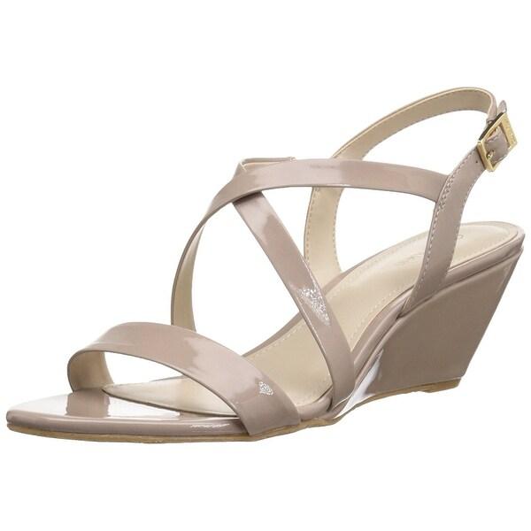 b31f4e66e136 Shop Calvin Klein Women s Thea Wedge Sandal - Free Shipping On ...