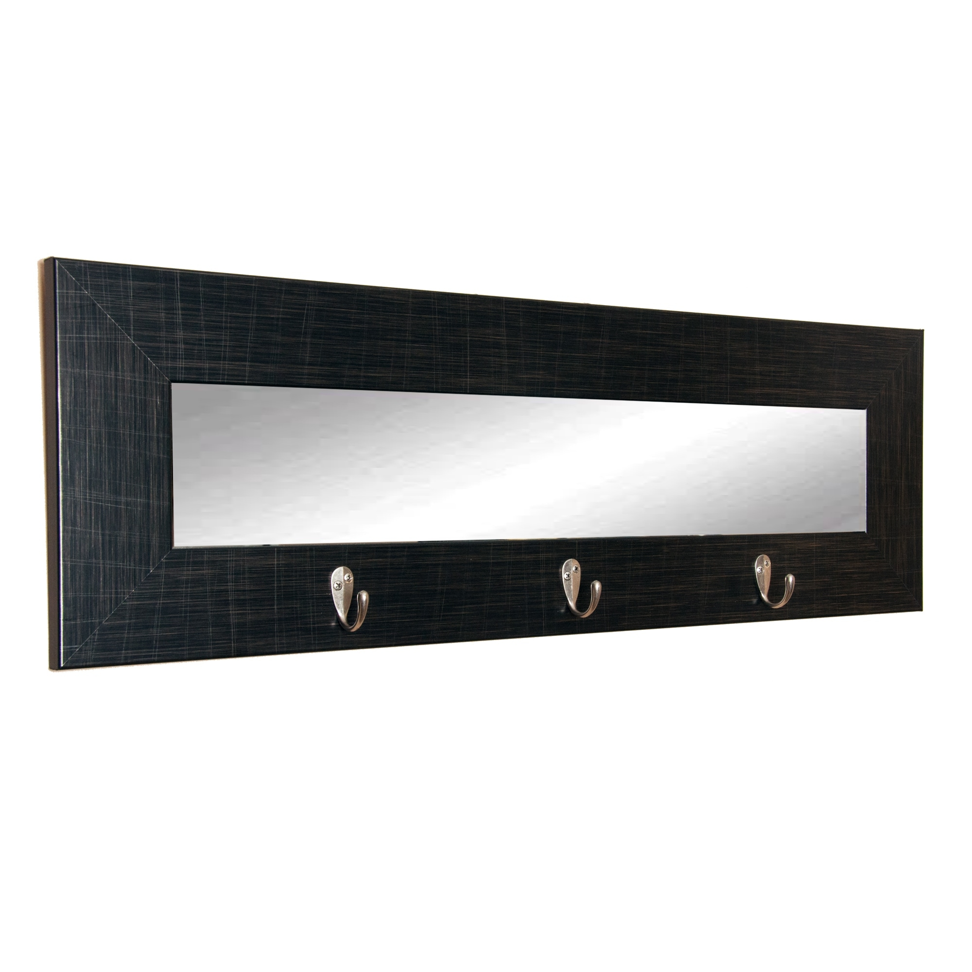 Scratched Black Framed Wall Mirror