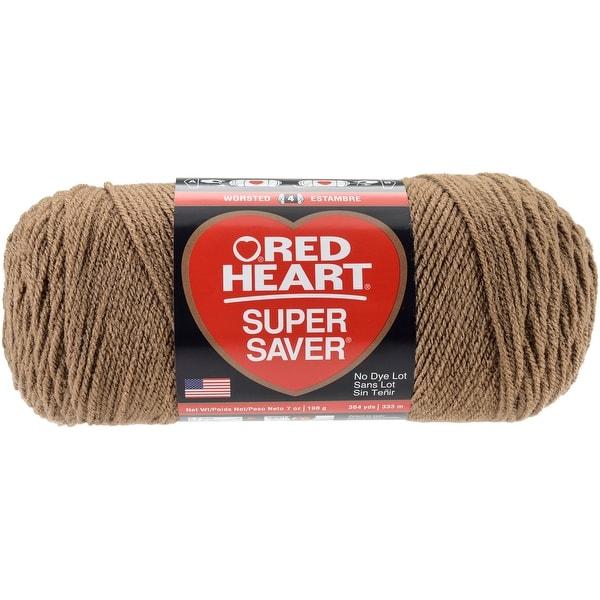 Red Heart Super Saver Yarn-Cafe Latte