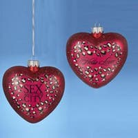 """4.25"""" Hand Crafted Glass Sex and the City """"Hello Lover"""" Heart Christmas Ornament"""