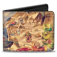 Transformers Fortress Maximus '87 Box Art Battle Scene Bi Fold Wallet - One Size Fits most