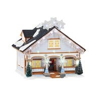 "Department 56 Snow Village ""The Snowflake House"" Lighted Building #4044854 - multi"