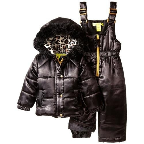 3f981764a Shop Catherine Malandrino Girls 12-24 Months Satin Leopard Snowsuit - Free  Shipping On Orders Over $45 - Overstock - 18767828