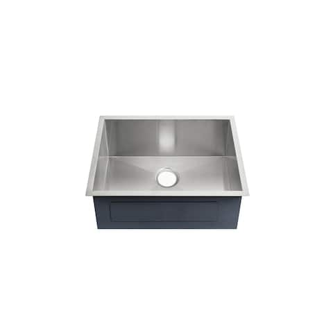 Tourner 21 x 18 Stainless Steel, Single Basin, Undermount Kitchen Sink