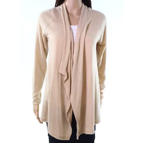 Moa Moa Latte Brown Womens Size Small S Draped Cardigan Sweater