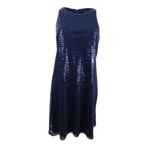 MSK Women's Sequined Shift Dress