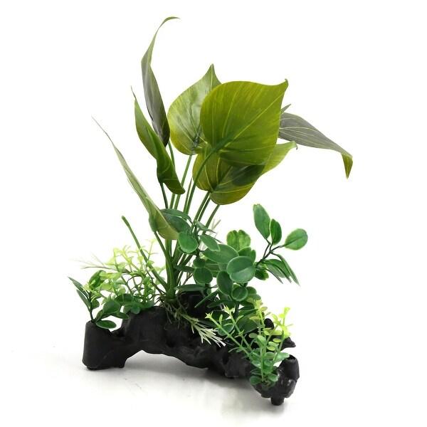 Shop Green Plastic Aquarium Terrarium Plants Decorative Ornament For