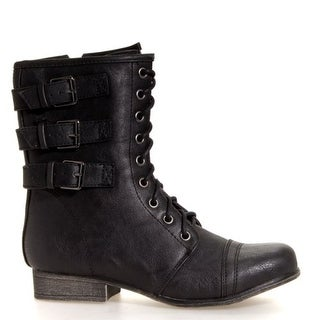 Madden Girl Womens Ginghamm Boot