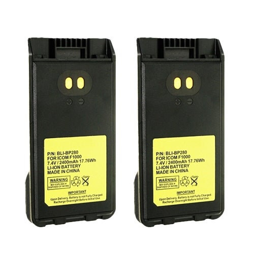 """Battery for Icom BP280 (2-Pack) Battery for Icom BP-280"""