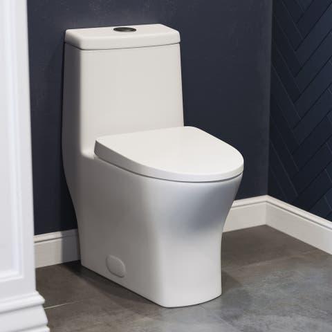 "Sublime II Compact 24"" Length One Piece Toilet Dual Flush 0.8/1.28 GPF"