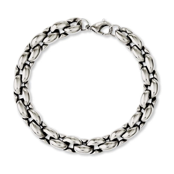 Chisel Stainless Steel Polished Ovals 8.25in Bracelet