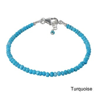 Link to Handmade Natural Stones Lucky Color Stone Sterling Silver Bracelet (Thailand) Similar Items in Bracelets