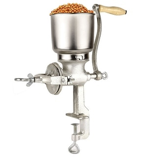 Costway Corn Wheat Grinder Cast Iron Big Hopper Grain Manual Grinder Home Commercia